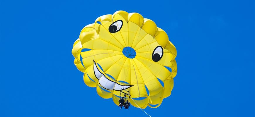 Yellow smile parachute